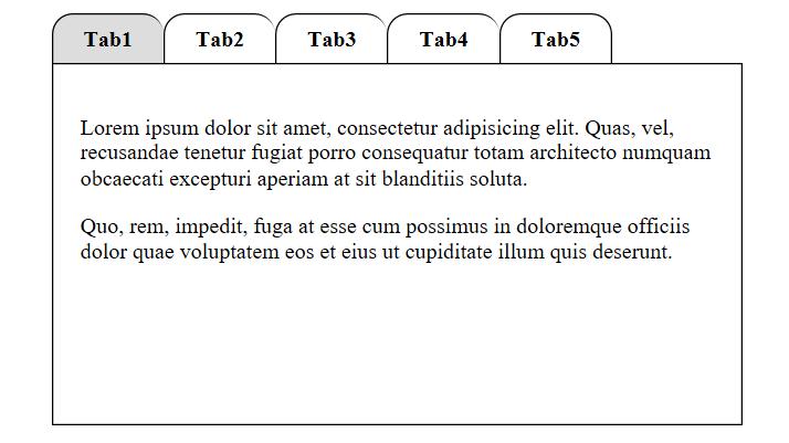 Creating Pure CSS Tabs – Hunterweb