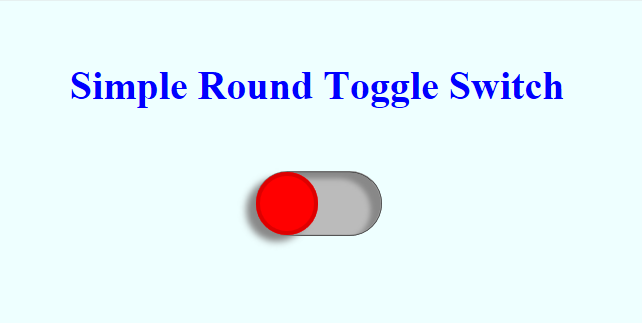 Simple Round Toggle Switch