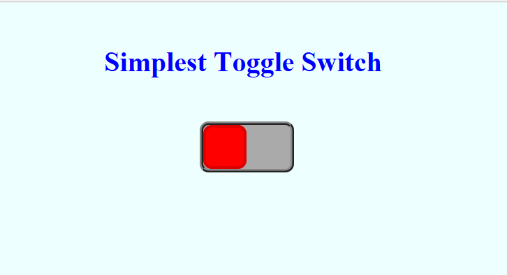 Simplest Toggle Switch